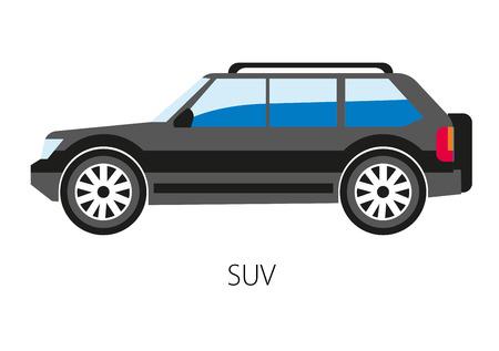 4wd: Vector illustration of sport suburban utility vehicle light truck