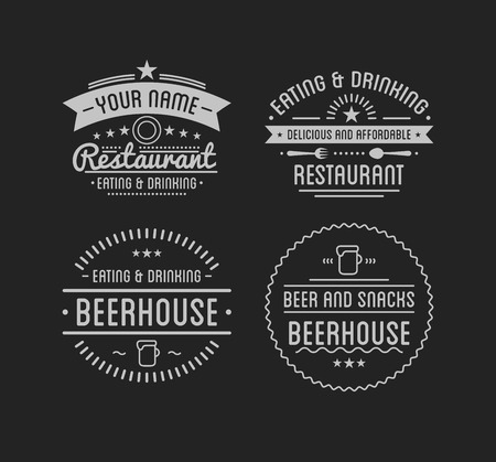Logo vintage. Modèle de caféier. Etiquette de restaurant.