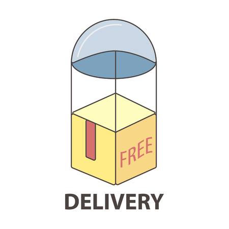 online: Express delivery service logo template.
