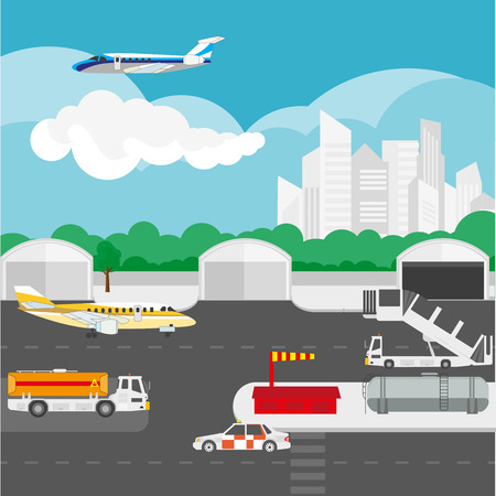 liftoff: Airport flat details and vector elements