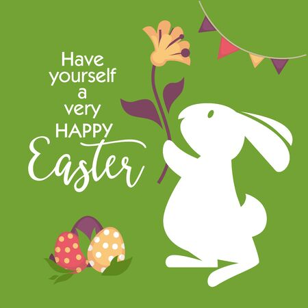 traditional pattern: Happy easter greeting card design.