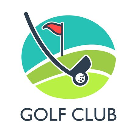 award winning: Golf country club template or icon for tournament