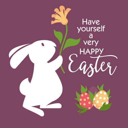 greeting season: Happy easter greeting card design.