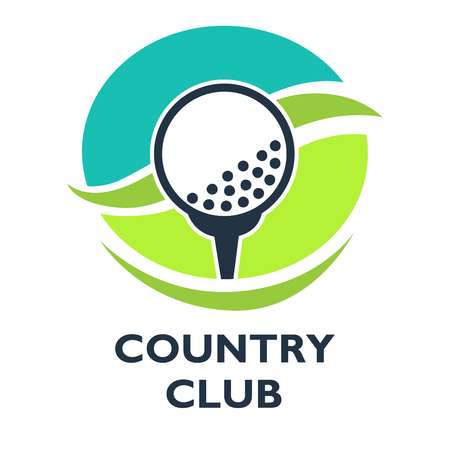 hole: Golf country club template or icon for tournament