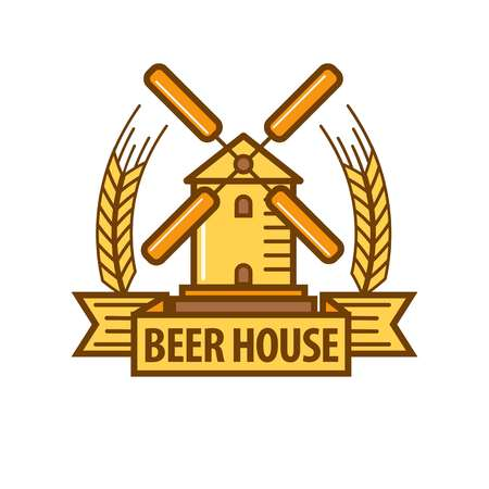 brewery: Beer icon for beerhouse brewery bar pub or product label