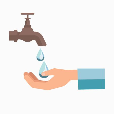 scarcity: Charity symbol of water scarcity for people vector template icon