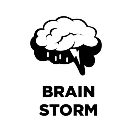 innovating: Brain storm creative icon. Smart intelligence concept vector template