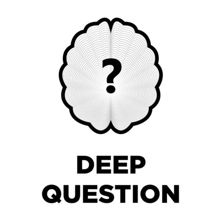 smart: Brain question creative icon. Smart intelligence concept vector template