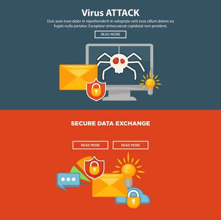 web site: Internet security and computer malware protection vector web site templates