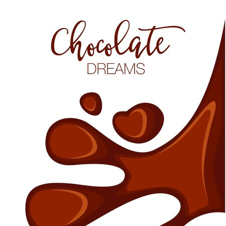 copy space: Chocolate background with copy space. Illustration