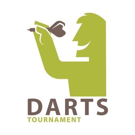 dart board: Darts championship logo template. Vector