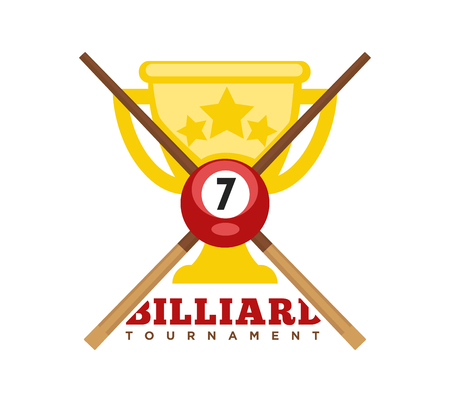 Pool or billiards vector icons set