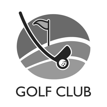 hole: Golf country club logo template or icon for tournament