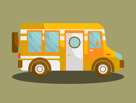 Camping bus or camper van motorhome car or vehicle
