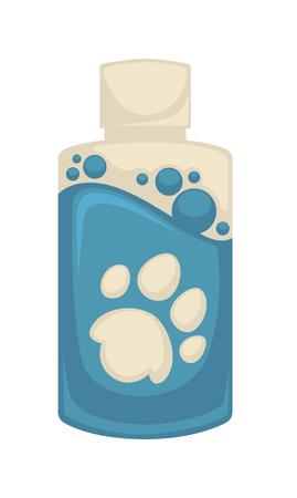 sketch: Vector icon of pet shampoo. Symbol animal care