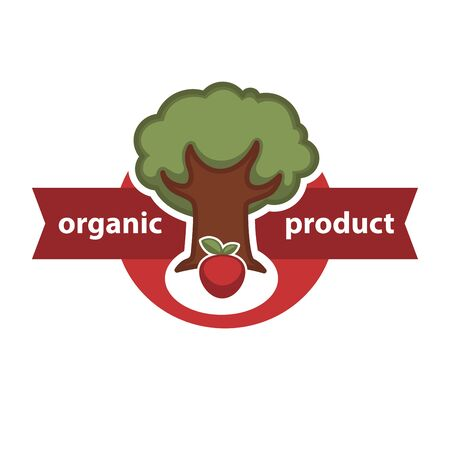 Farm fresh product agriculture vegetable or fruit vector icon template