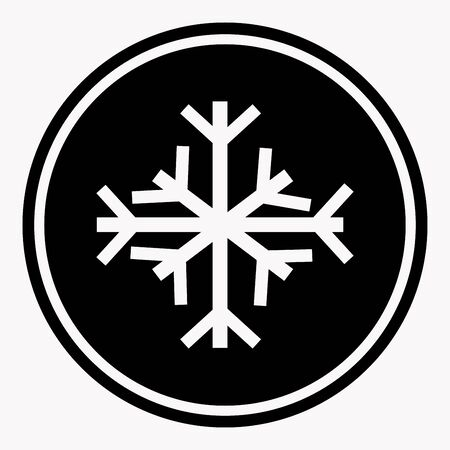 marks: Warning and danger sign of snow attention symbol black circle Illustration