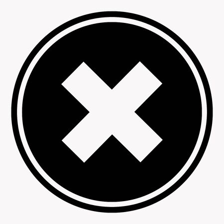 incursion: Warning and danger sign with cross attention symbol black circle