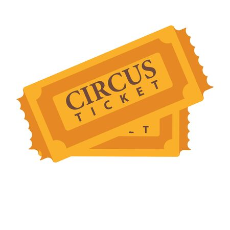 entertainment event: Circus tickets retro vector isolated flat icon Illustration