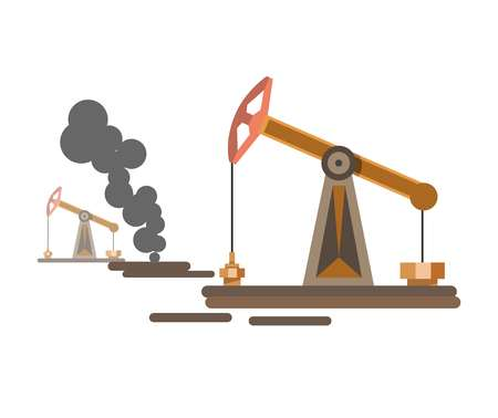 Environment and nature industrial water petroleum air gas pollution vector