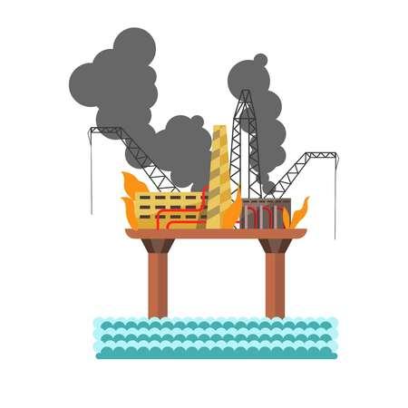contaminacion del agua: Medio ambiente y naturaleza agua industrial, contaminación por petróleo del aire vector