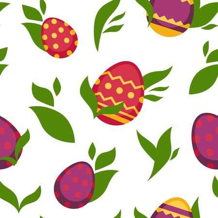Easter paschal eggs seamless pattern vector background
