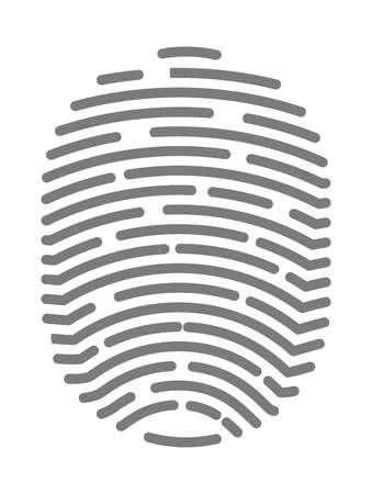 fingermark: Fingerprint of twisted lines sign isolated vector illustration flat design. Illustration