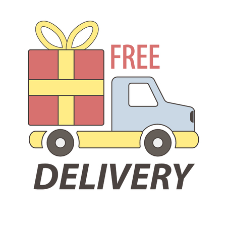 Express free delivery service logo concept vector sign