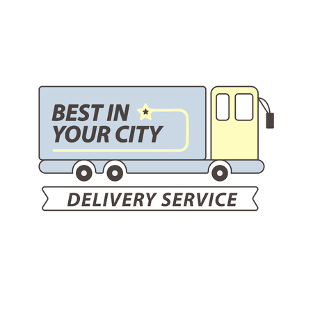 food: Delivery service truck or car vector flat icon