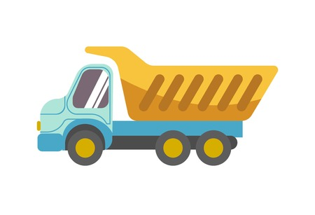 Kid toy children plaything tipper truck vector icon
