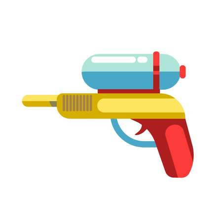 Kid toy children plaything water gun vector icon