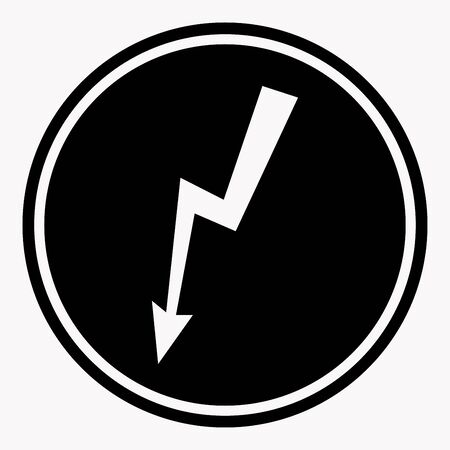 high damage: Danger high voltage warning sign electric hazard vector isolated icon