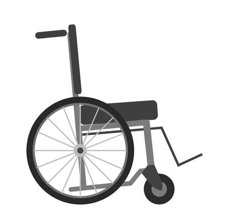 Wheelchair isolated on white background vector illustration. Transportation chair Illustration