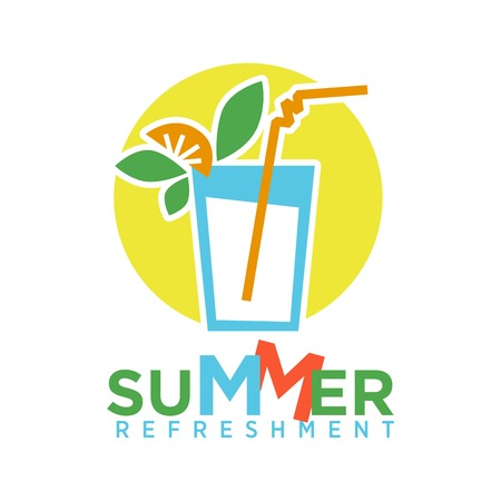 Summer refreshing cocktail with straw, fruits and mint on background