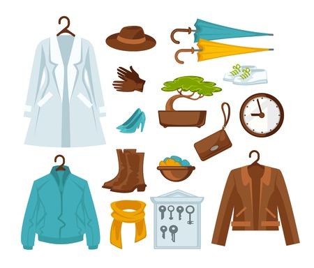 Set of stylish female clothes