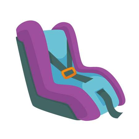 Child safety seat, infant restraint system vector illustration isolated