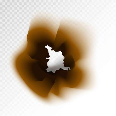 burning paper: Burnt brown isolated paper hole on transparent background
