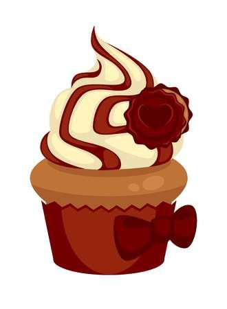 Appetizing chocolate cupcake