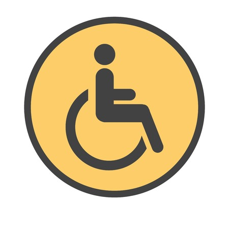 signage: Road signwith person in wheelchair