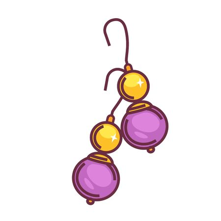 shiny metal: A pair of purple drops