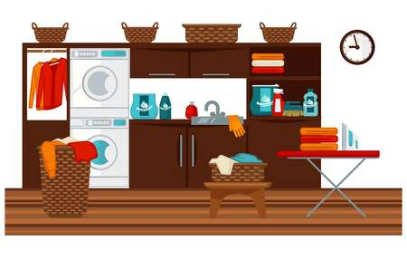 domestic room: Laundry room and furniture
