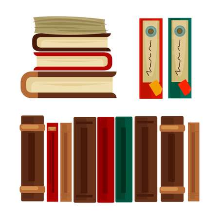 heap: Different books and covers