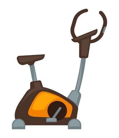 Exercycle isolated on white Illustration
