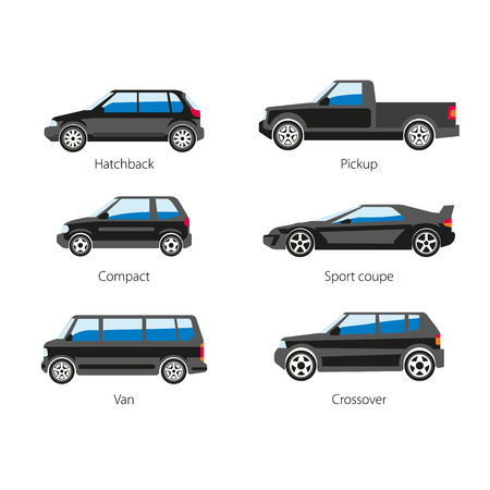 Different types of vehicles