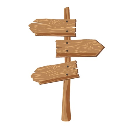 right choice: Three indexes showing in different directions attached on wooden stick