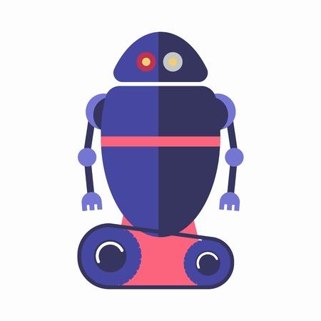 element: Cute blue robot