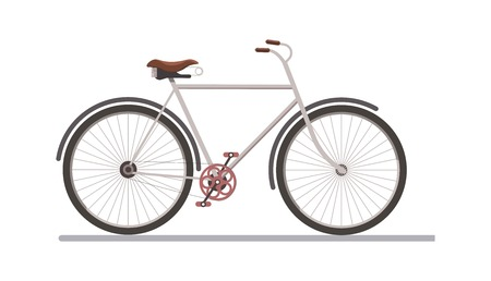 Side view of a bicycle