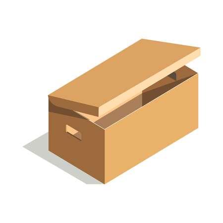 element: Minimalistic cardboard box