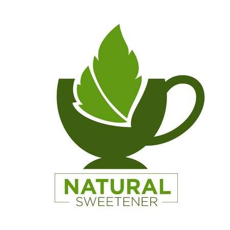 sweetener: Natural sweetener logo Illustration
