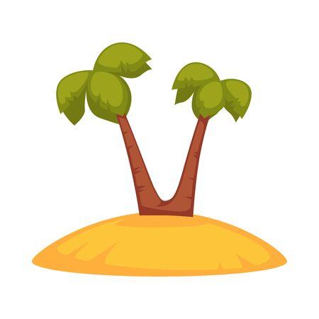 Palms on sandy island